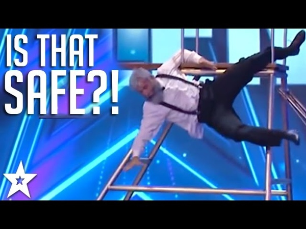 Is That Safe! Comedy TRAMPOLINER Has Judges in Stitches! | Got Talent Global