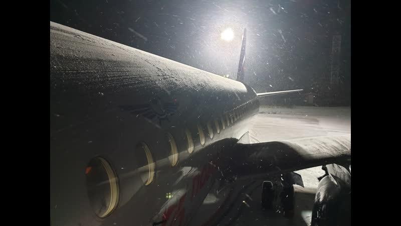 Аэропорт Туношна посадка✈ Аэрофлот рейс Москва Ярославль