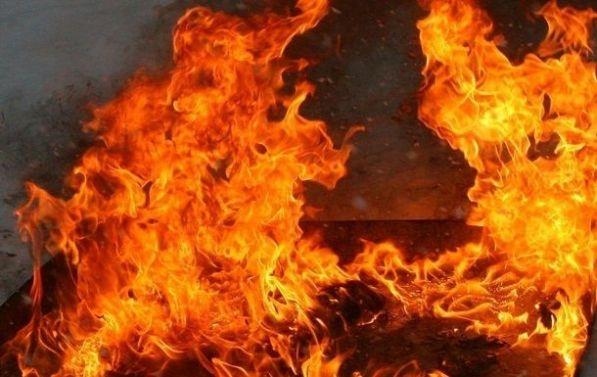 В Зайцево из-за снаряда влетевшего в дом произошел пожар