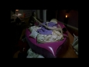 Woman throws his clothes in the garbage (CFNM)