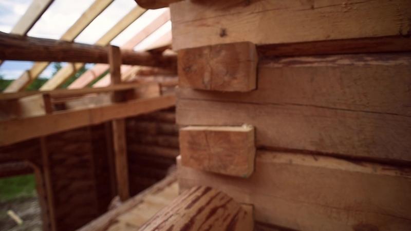 🌲🏠 Дом из бревна. Строительство сруба. Загородный дом