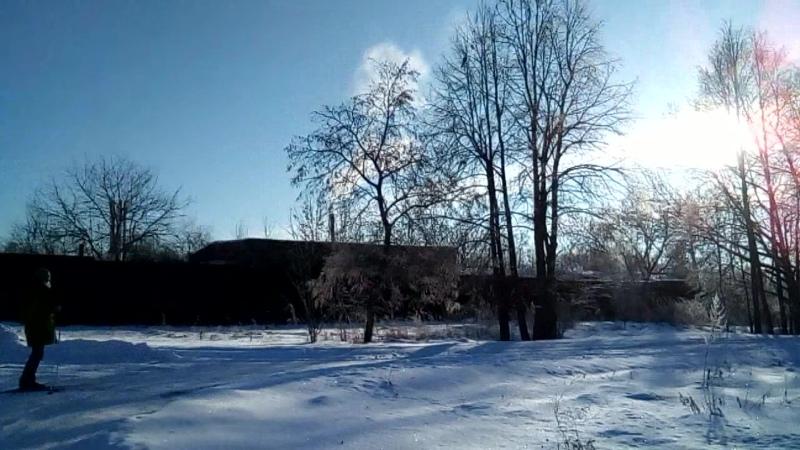 На лыжах в Воздвиженском.