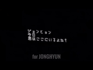 180217- SHINee World the Best FROM NOW ON [VCR: JONGHYUN 'END OF A DAY'