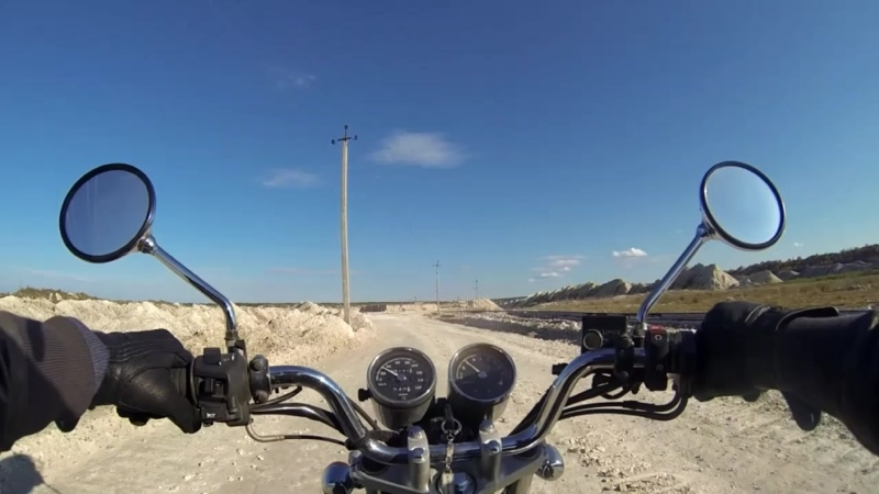 Брянск карьеры Фокино озеро Бездонное на мотоцикле