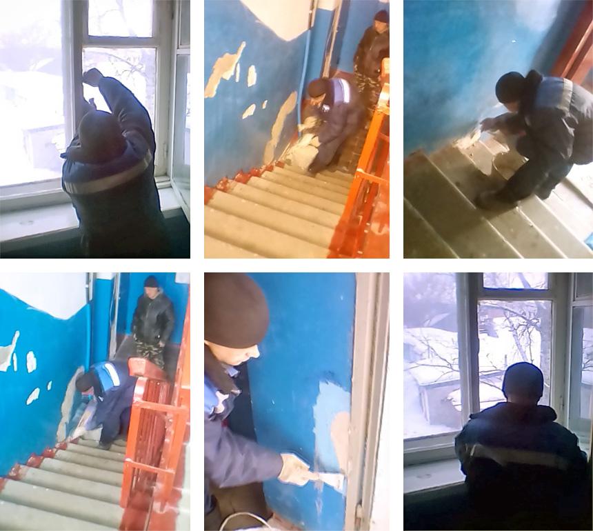 Управляющая компания «Базис» начала косметический ремонт подъездов многоэтажки на улице Советской