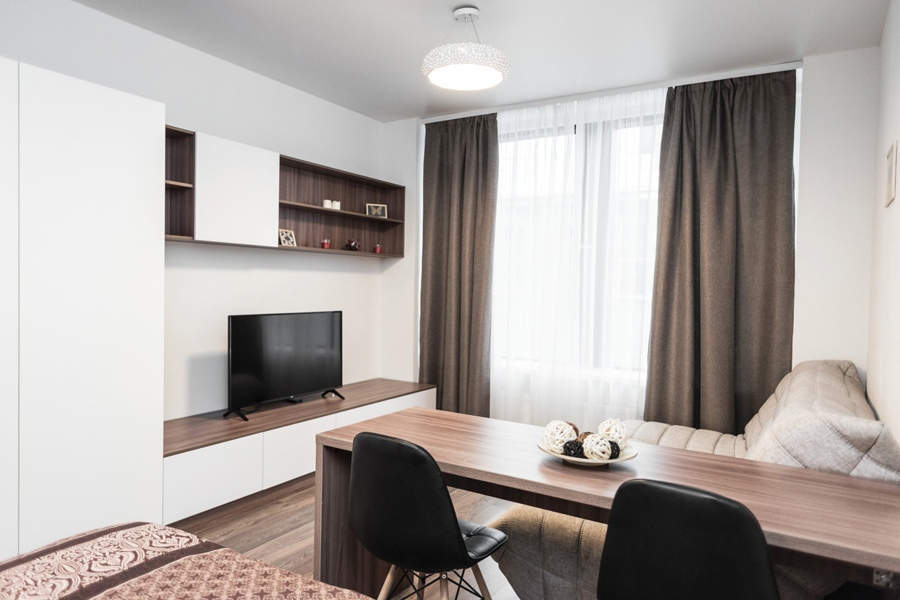 Интерьер гостевой квартиры-студии 30 кв.
