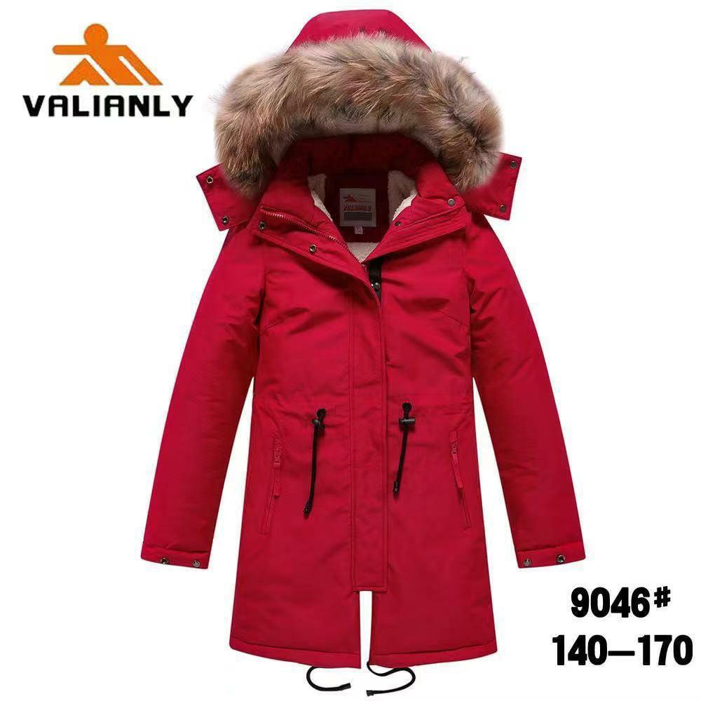 Зимняя парка Valianly 9046 красная