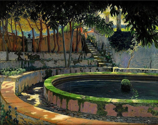 Сантьяго Рузиньол-и-Пратс живописец из Каталонии, поэт, прозаик, драматург и один из самых известных каталонских художников-постимпрессионистов, автор сатирического журнала, график Художник