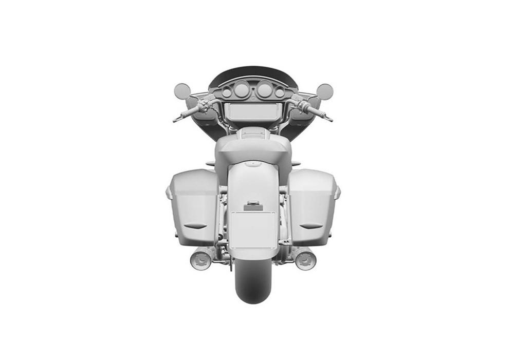 Патентные рисунки бэггера BMW R18