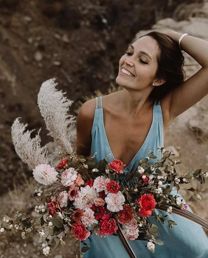 On7KiTSA E4 - Свадебные букеты с гвоздиками - фото