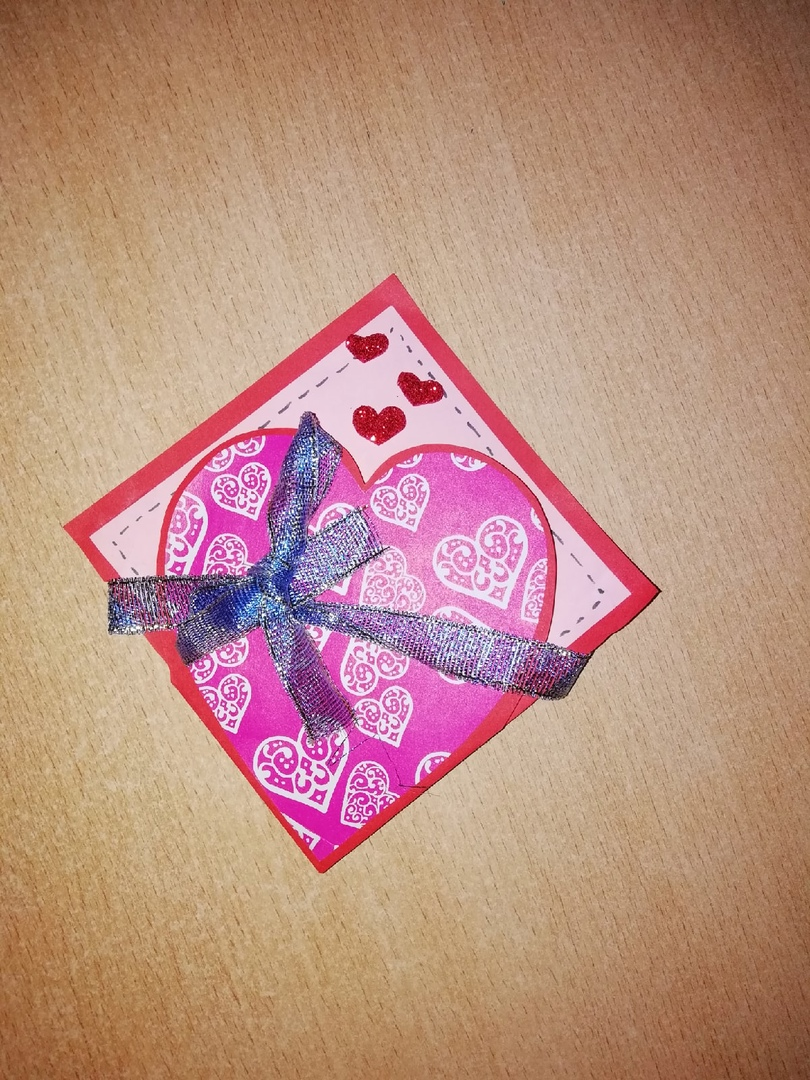Готовая работа «Сердечные подарки».
