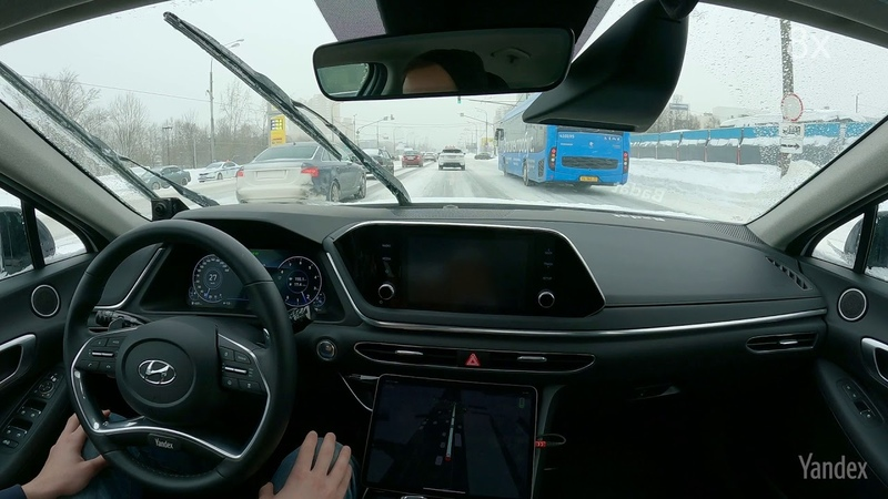 Autonomously navigating snow covered Moscow streets