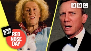 James Bond comes face-to-face with Catherine Tate's Nan @Comic Relief: Red Nose Day 2021 - BBC