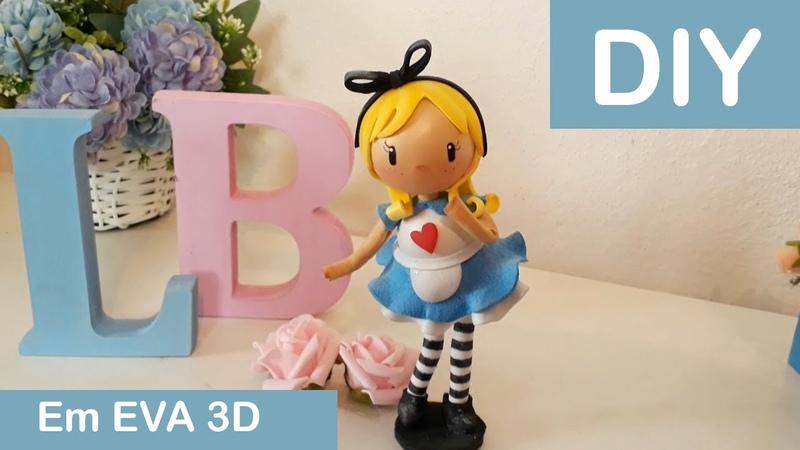 Alice no País das Maravilhas Boneca de EVA 3D