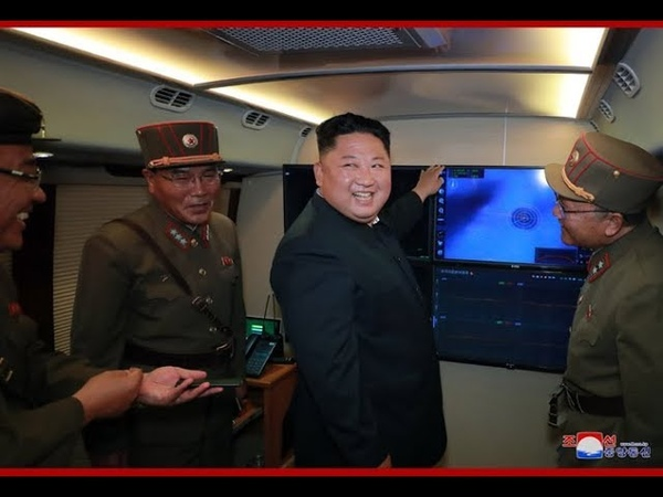 Kim Jong Un guides test-firing of new-type multiple rocket launch system again (english)
