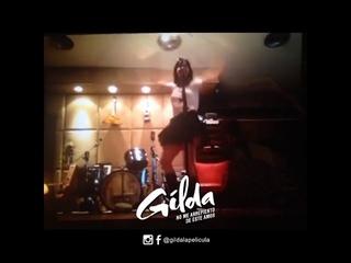 """Natalia Oreiro - Ensayos para el tema """"Fuiste"""" (Gilda, la película)"""