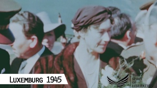 Luxemburg 1945 - Grand Duchess Charlotte returns from exile in Montral, Canada (in color and HD)