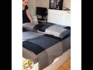 Как быстро и красиво заправить кровать