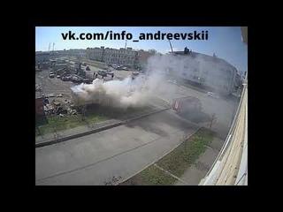 Пожар в ЖК Андреевский попал в обзор камеры наблюдения ! 21 апреля , 2021 год !