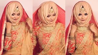Bridal hijab style | hijab tutorial