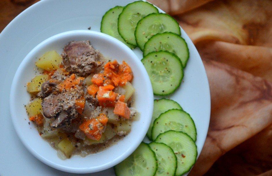Рагу с тыквой в горшочке Ингредиенты: Печень куриная — 200